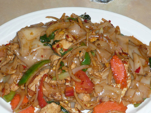 ... drunken noodle with many chicken in drunken noodles drunken noodles